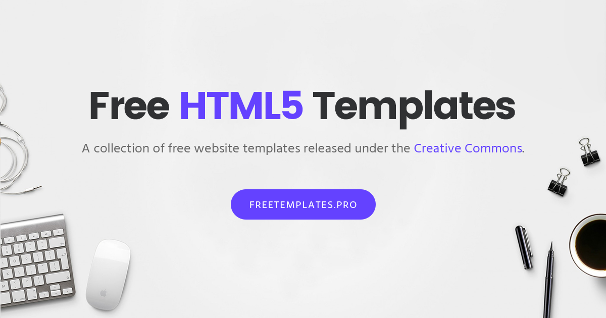 Free Html Templates Bootstrap Templates Website Template