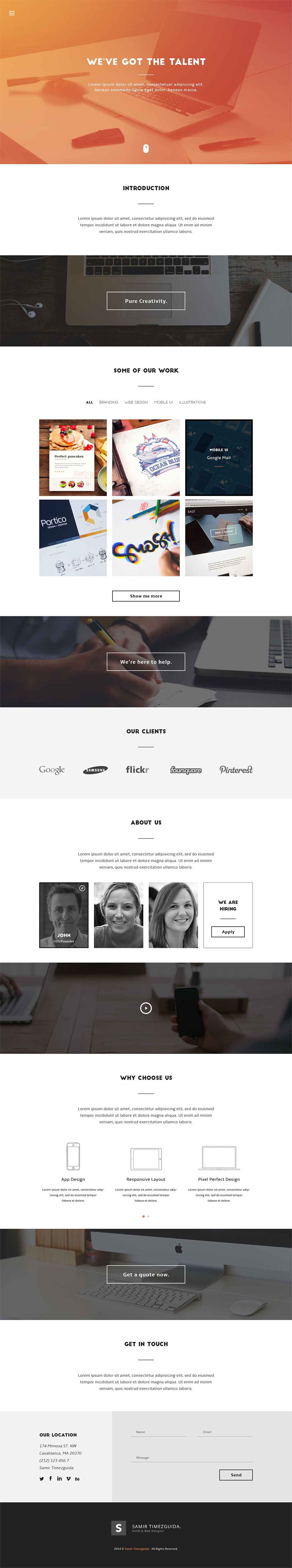 Casablanca Free HTML Template | Free HTML5 Templates