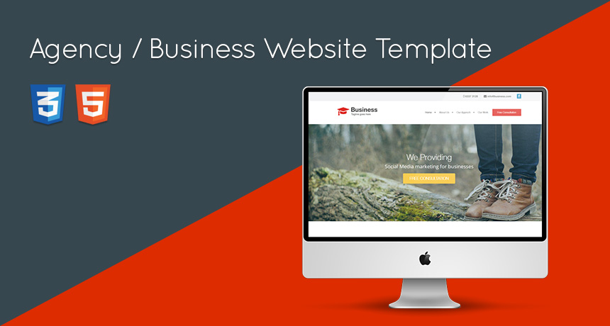 Agency business website html template free html5 templates flashek Choice Image