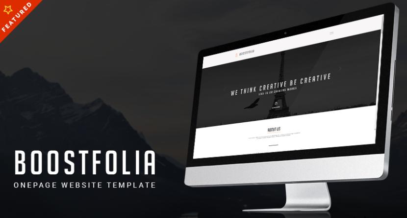 Boostfolia Onepage Website HTML Download