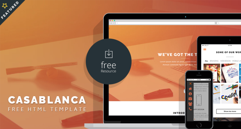 Casablanca Free HTML Template