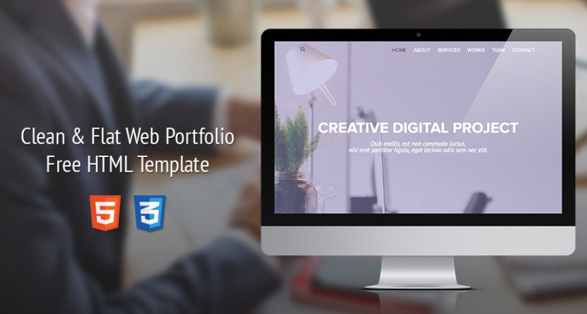 Clean & Flat Web Portfolio Design HTML Template