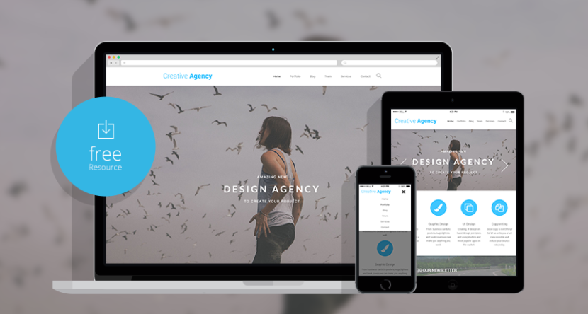 Creative Agency Website HTML Template