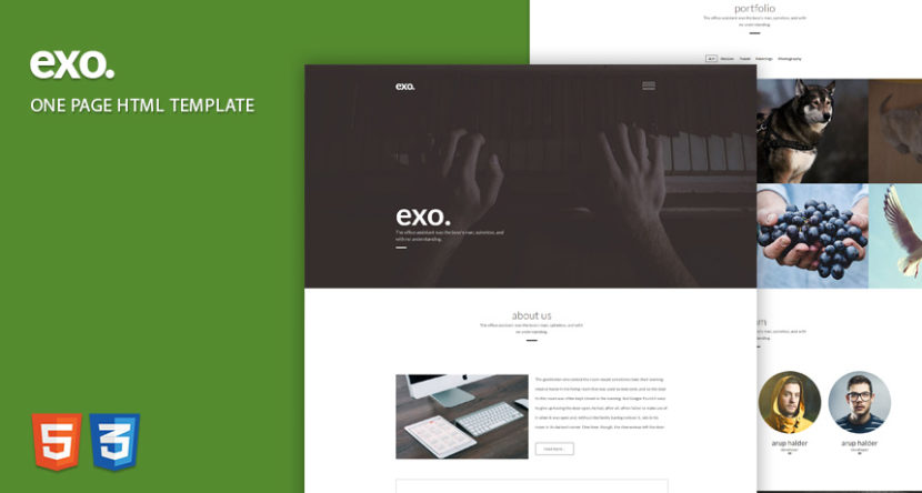 EXO One Page Web Template