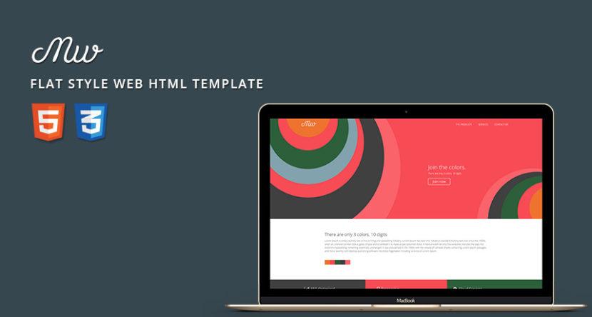 Flat Style Web HTML Template