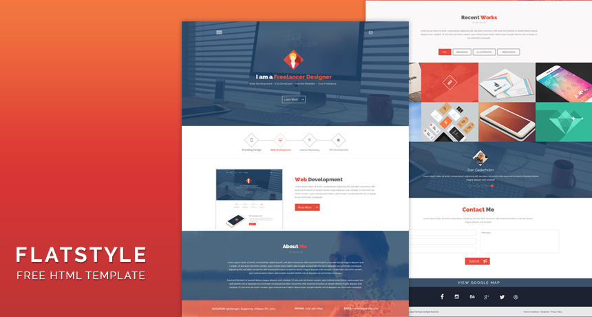 Flatstyle web design html template free html5 templates for Create your own wordpress theme from an html template