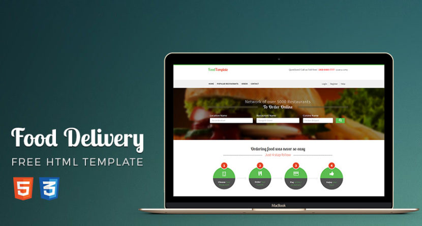 Food/Restaurant Ordering Shop Website Template HTML