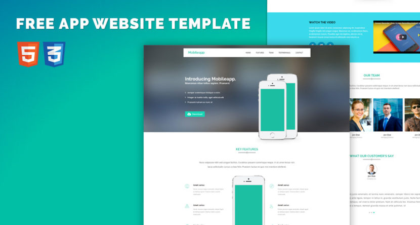 Free Website Bootstrap Html5 Template