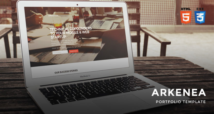 Free Arkenea Website Template HTML