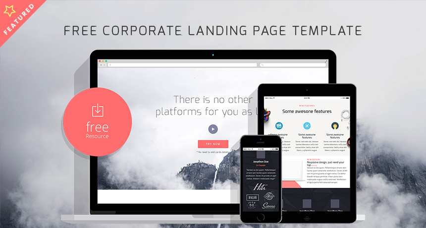 Free Corporate Landing Page HTML Template Free HTML Templates - Simple landing page html template