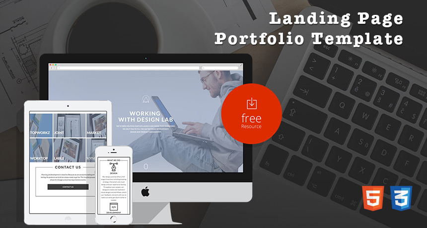 Free landing page portfolio template free html5 templates for Wordpress squeeze page template