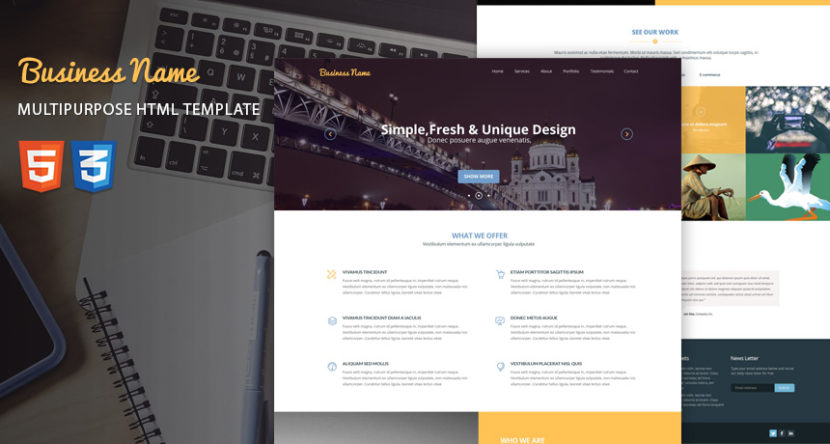 Free HTML Templates, Bootstrap Templates, Website Template