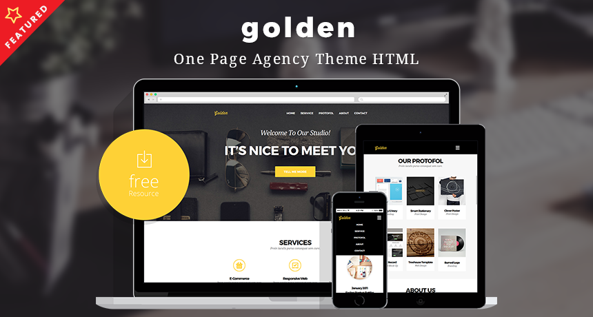 Golden – One Page Agency Theme HTML