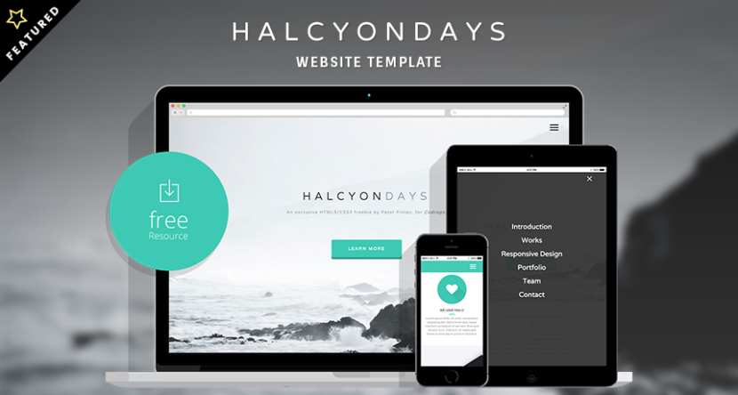 Halcyon Days Website Responsive Template