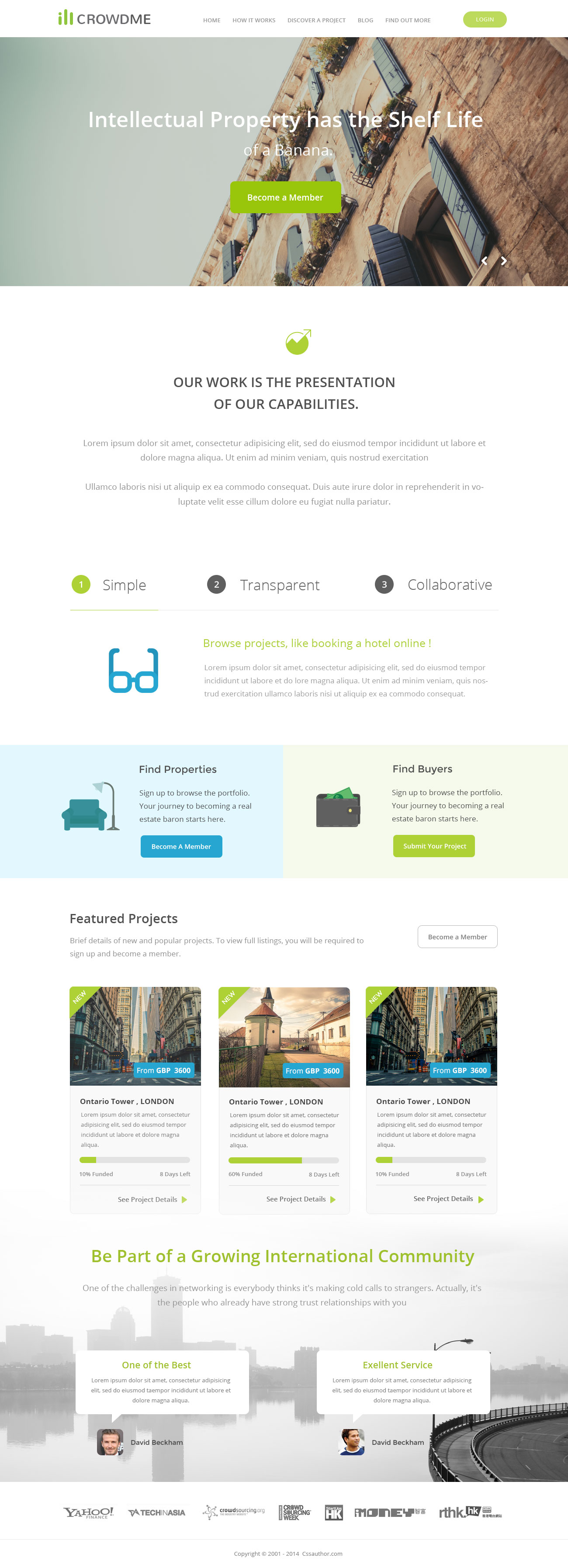 Icrowdme FREE HTML Website Template Free HTML Templates - Membership website templates free