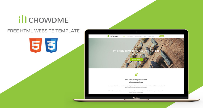 Icrowdme – FREE HTML Website Template