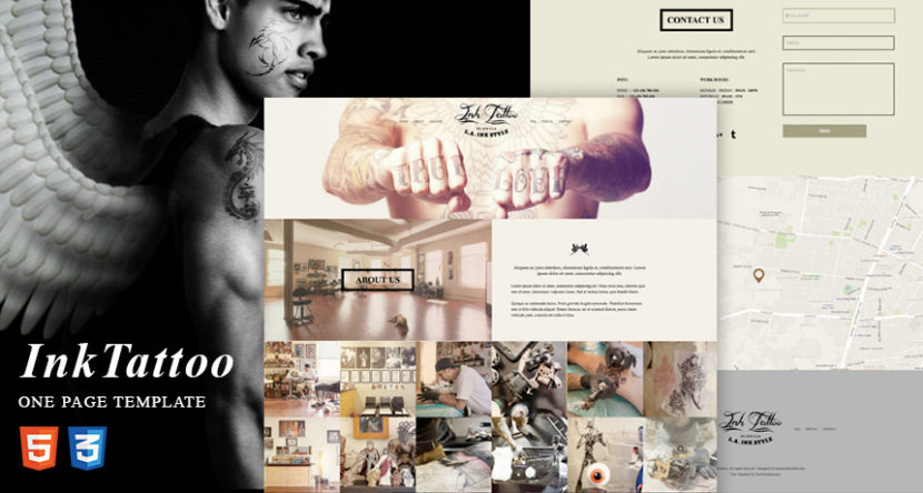 InkTattoo – Free One Page HTML Template