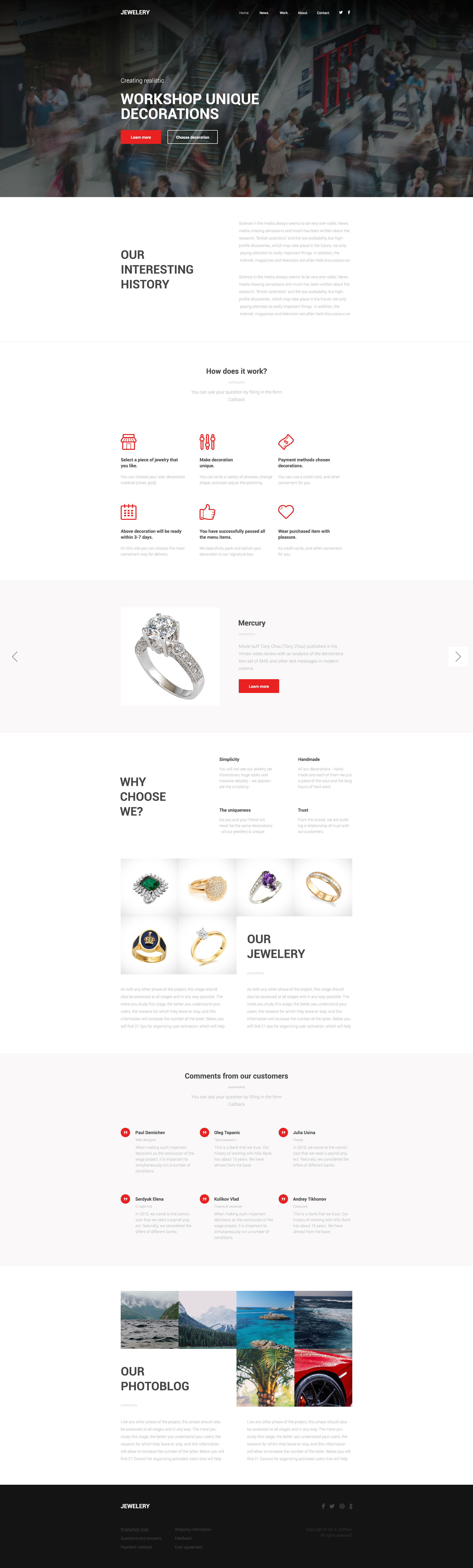 jewelery one page html template free html5 templates. Black Bedroom Furniture Sets. Home Design Ideas