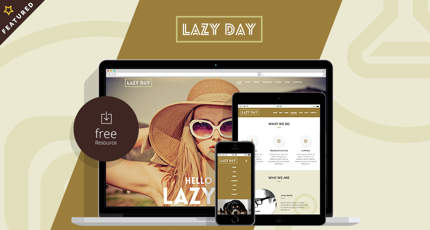 Lazy day – One Page HTML Template