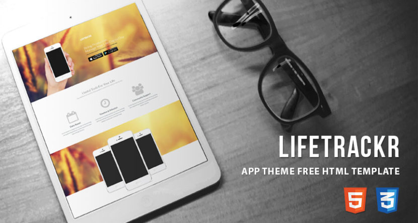 LifeTrackr – App Theme Free HTML Template