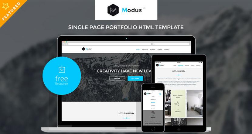 Modus – Single Page Portfolio HTML Template