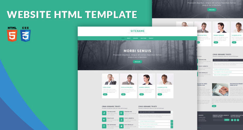 Responsive Website Template HTML