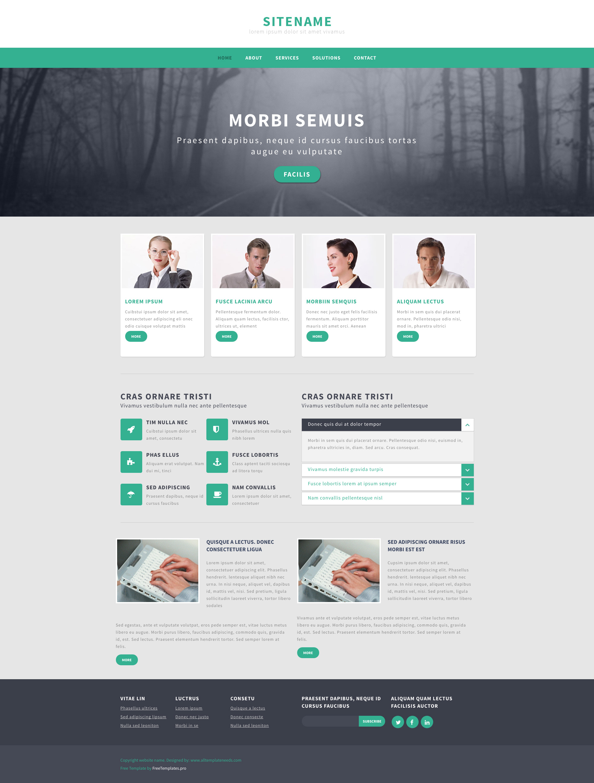 Responsive Website Template Html Free Html5 Templates