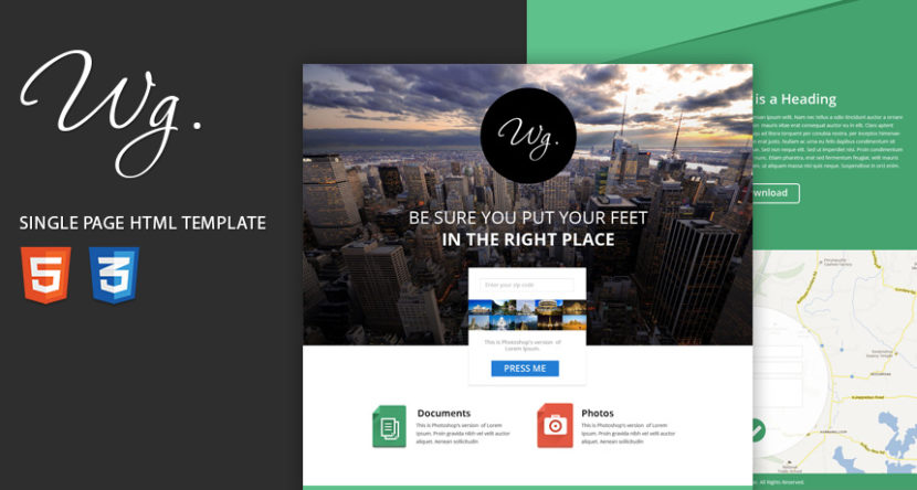 Single Page Free Website Template HTML