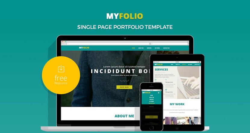 Single Page Portfolio Website Template