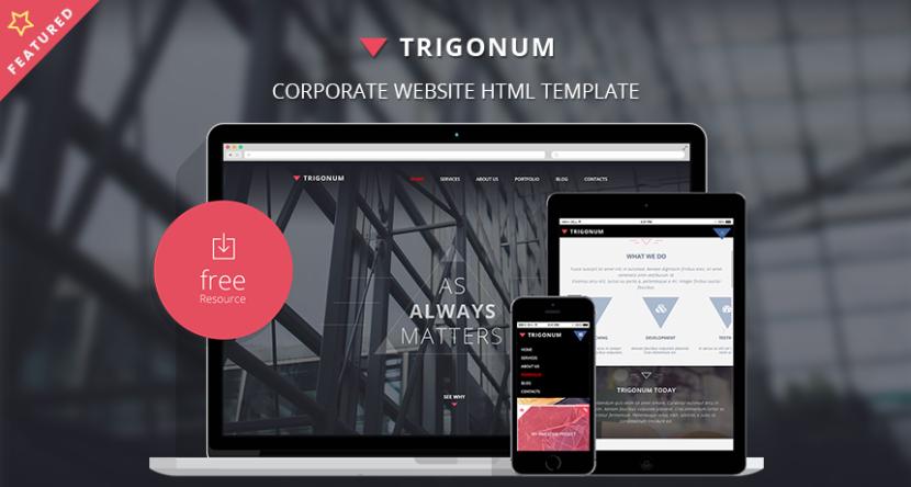 TRIGONUM Corporate Website Bootstrap HTML Template