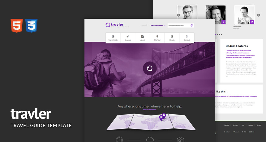 Travler a Travel Guide Responsive HTML Template