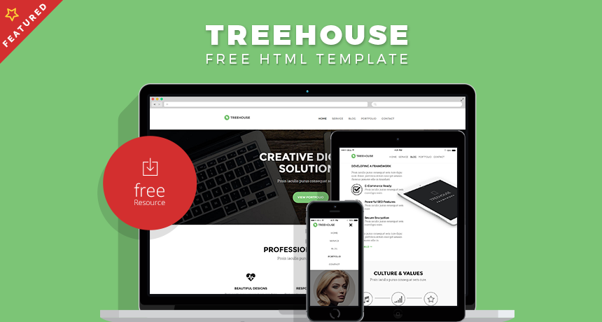 Treehouse Website HTML Template | Free HTML5 Templates