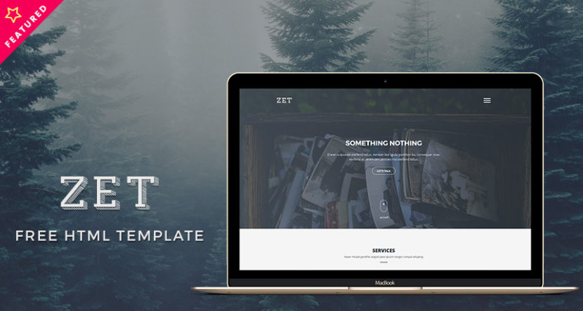 Zet – Free One Page Template HTML