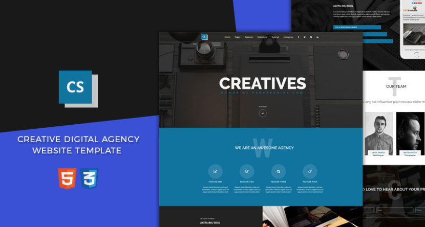 Creative Digital Agency Website Template