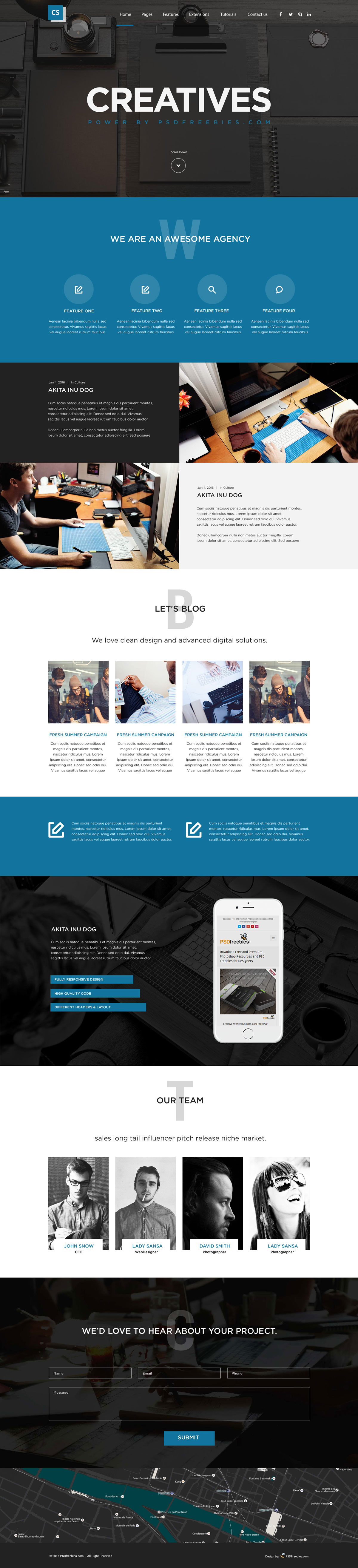 Creative Digital Agency Website Template | Free HTML5 Templates