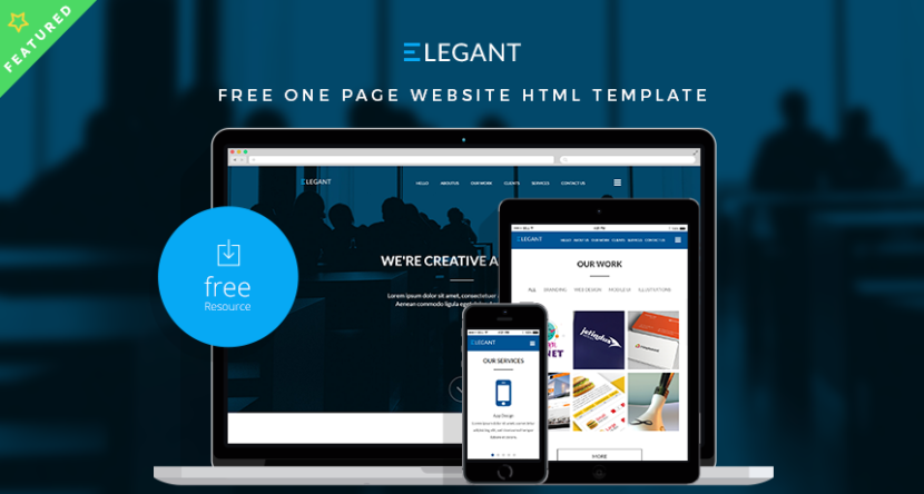 ELEGANT – Free One Page Website HTML Template