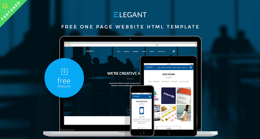ELEGANT - Free One Page Website HTML Template | Free HTML5 Templates