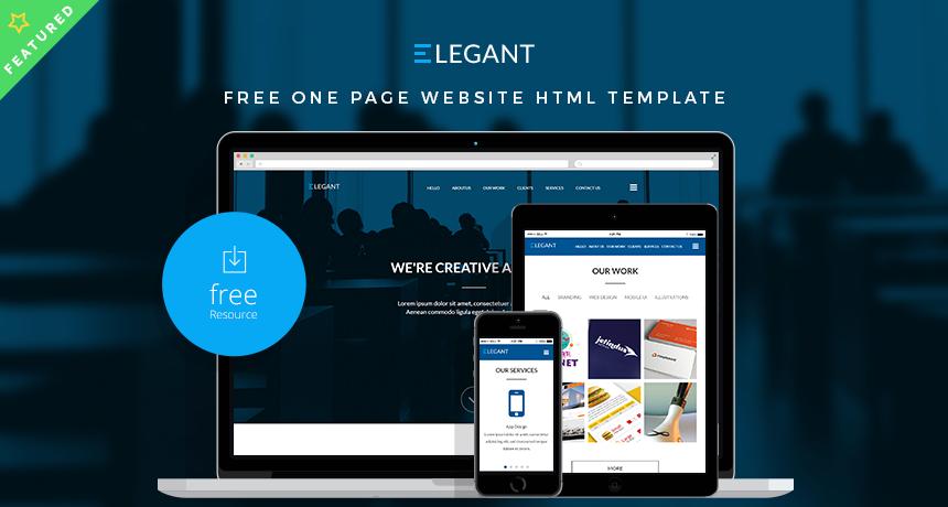 Elegant free one page website html template free html5 templates maxwellsz