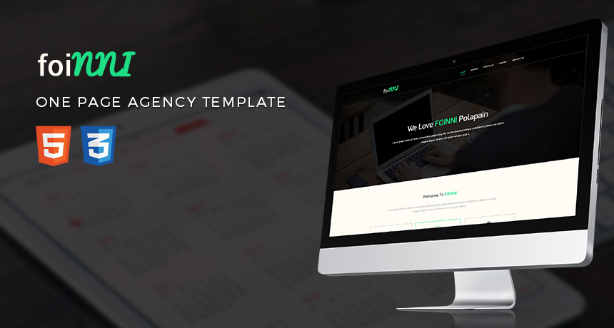 Foinni One Page Free Html Template