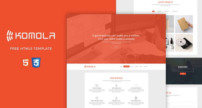 Komola – Free HTML5 Template