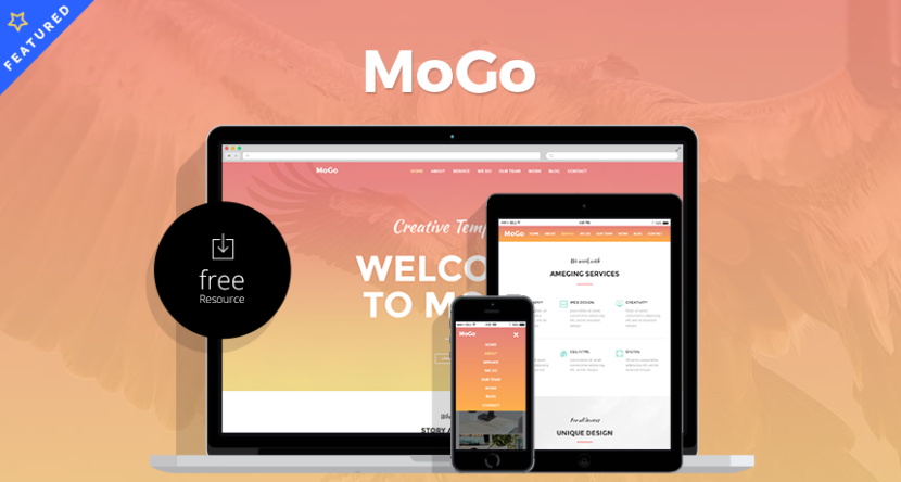 MoGo – Free One Page Web Template