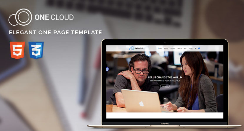 OneCloud – Elegant One Page Template