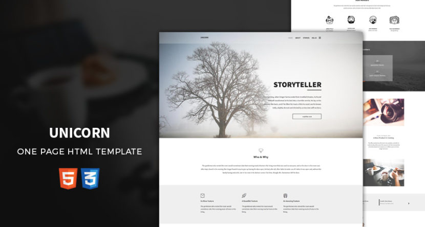 Unicorn – One Page HTML Template
