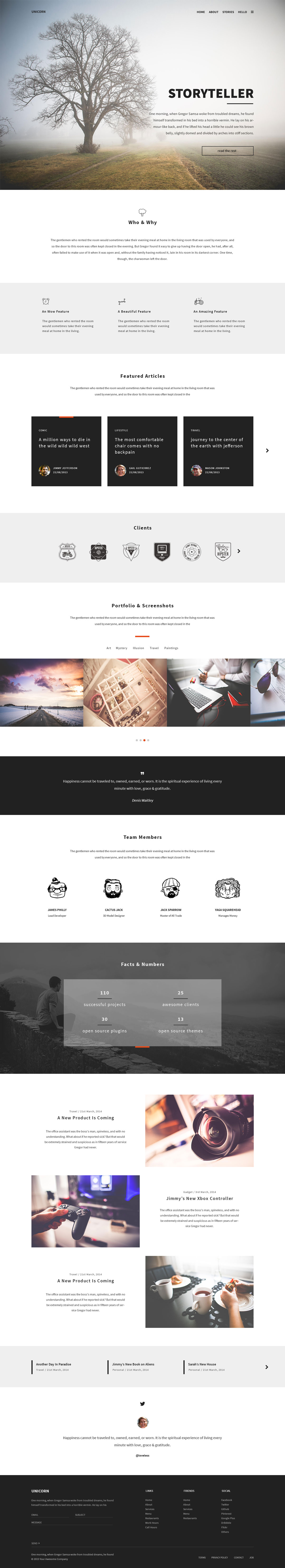 Unicorn---One-page-Free-Modern-PSD-Template