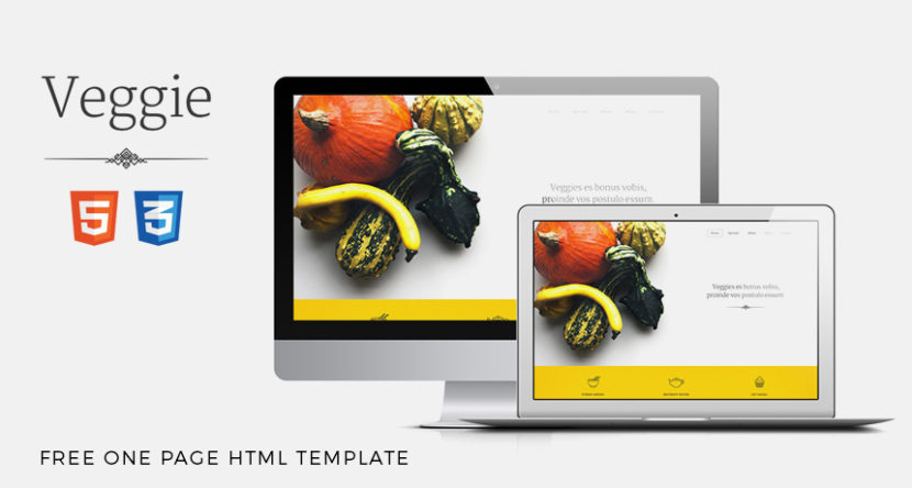 Veggie – FREE One Page HTML Template