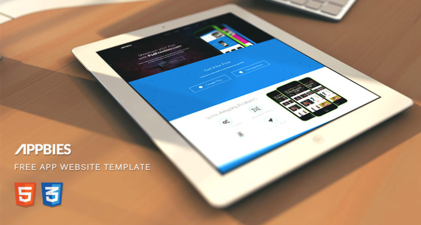 APPBIES – One Page App Landing Free HTML Template