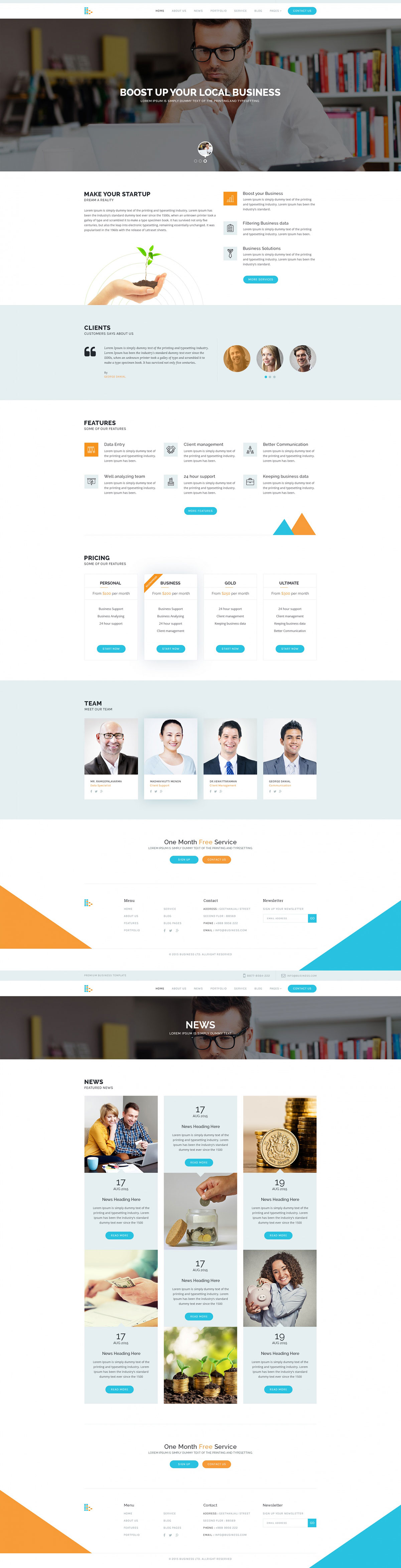 Bplus One Page Html Template Free Html5 Templates