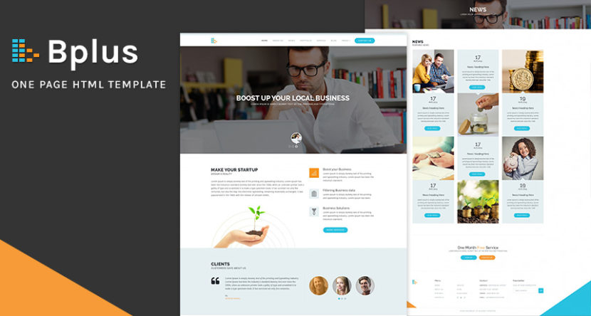Bplus One Page HTML Template