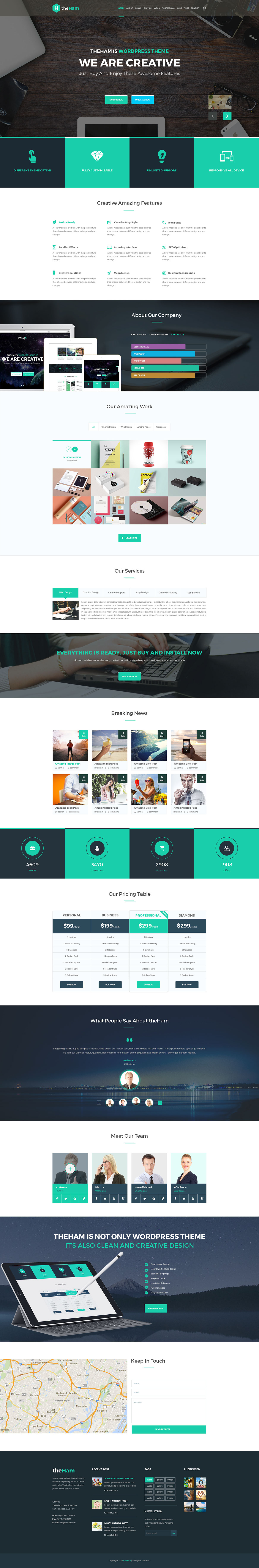 TheHam - Creative Landing Page PSD Template