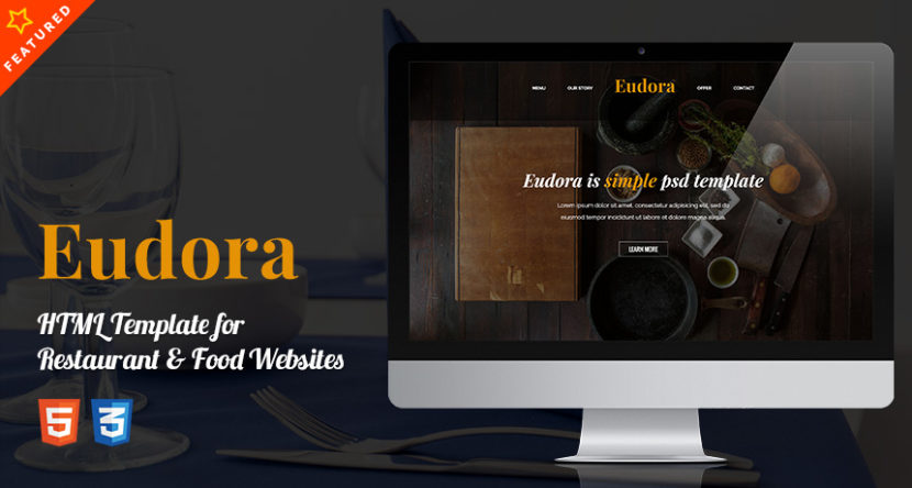 Eudora HTML Template for Restaurant & Food Websites